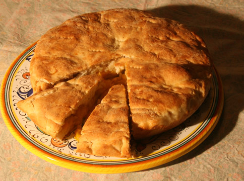 Food - Schiacciata with plums